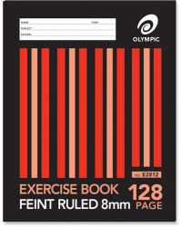 EXERCISE BOOK OLYMPIC 128PG PK10