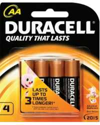 BATTERY DURACELL ALK AA 4