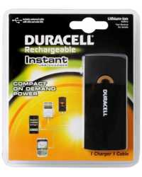 BATTERY CHARGER DURACELL INSTANT PPS2/IPOD/IPHONE/BLACKBERRY/MOT
