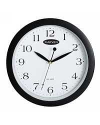 CLOCK CARVEN WALL 25CM BLACK