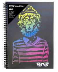 VISUAL ART DIARY GEEK A4 HIPSTAR LION 110GSM 120PG