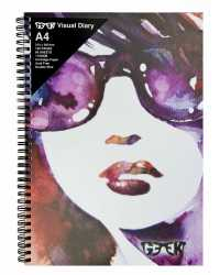 VISUAL ART DIARY GEEK A4 GIRL IN SHADES 110GSM 120PG