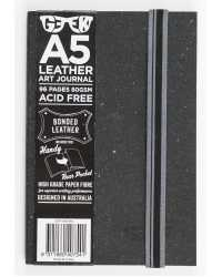 VISUAL ART DIARY GEEK A5 LEATHER SLATE GREY 80GSM 96PG