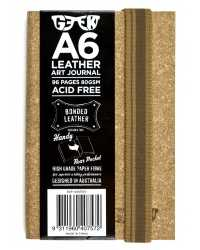 VISUAL ART DIARY GEEK A6 LEATHER CORK BROWN 80GSM 96PG