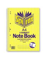 NOTEBOOK SPIRAX A4 596 5 SUBJECT 250PG SRT10