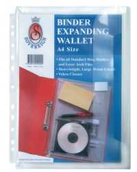 EXPANDING BINDER WALLET SOVEREIGN A4 CLEAR PK10
