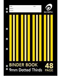 BINDER BOOK A4 9MM D/3RDS 48 PAGE PK20