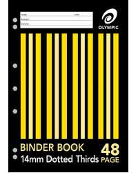 BINDER BOOK A4 14MM D/3RDS 48 PAGE PK20