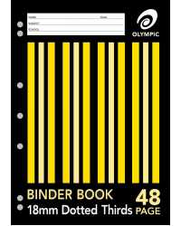 BINDER BOOK A4 18MM D/3RDS 48 PAGE PK20