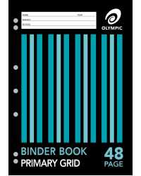 BINDER BOOK A4 OLYMPIC PRIMARY GRID 48 PAGE PK20