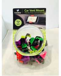 CAR VENT MOUNT TO SUIT SMARTPHONE FUSEBOX BARREL OF 20 ASSTD COL