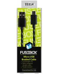 CABLE CHARGE & SYNC TO SUIT ANDROID MICRO-USB FUSEBOX 1.8M BRAID