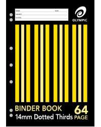 BINDER BOOK A4 14MM D/3RDS 64 PAGE PK20
