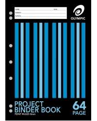 BINDER BOOK A4 PROJECT OLYMPIC 64 PAGE 8MM PK20