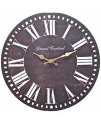 WALL CLOCK CASA UNO 33.8CM STERLING NOBLE BLACK