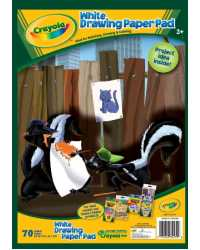 CRAYOLA ACTIVITY PAD A4 WHITE PAPER