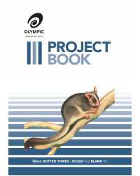 PROJECT BOOK OLYMPIC 525 18MM D/THIRDS 24PG PK10