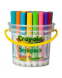 CRAYOLA MARKERS 32'S BRIGHT WASHABLE DESKPACK (8 COLOURS)