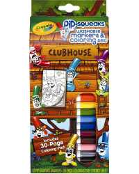 CRAYOLA MARKERS COLORING SET PIP-SQUEAKS