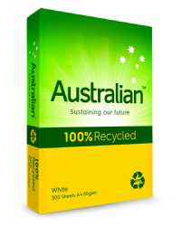 COPY PAPER AUSTRALIAN A4 100% RECYCLED WHITE REAM
