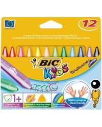 CRAYONS BIC KIDS PLASTIDECOR TRIANGULAR PK12