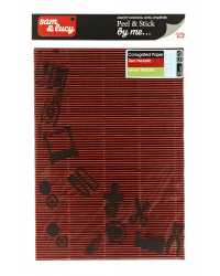 PAPER SAM & LUCY A4 120GSM CORRUGATED METALLIC S/A RED/GREEN PK2