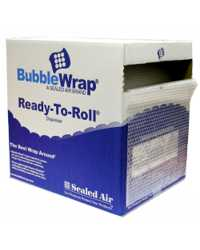 BUBBLE WRAP ROLL 350MMX50M PERF 750MM IN DISPENSER BOX