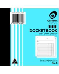 DOCKET BOOK OLYMPIC NO.5 DUP 120X125MM PK20