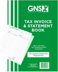 INV/STAT BOOK GNS 9570 DUP C/LESS 10X8 50LF PK5