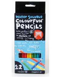 PENCIL COLOURED MICADOR COLOURFUN WATER/SOL BX12