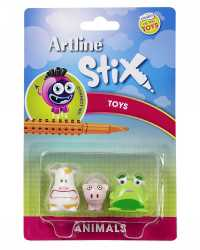 TOY CHARACTERS ARTLINE STIX PACK 3 ANIMALS 1