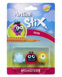 TOY CHARACTERS ARTLINE STIX PACK 3 MONSTERS 1