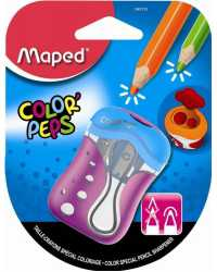 PENCIL SHARPENER MAPED COLOR'PEPS 2 HOLES