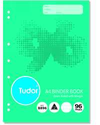 BINDER BOOK TUDOR A4 96PG PK10