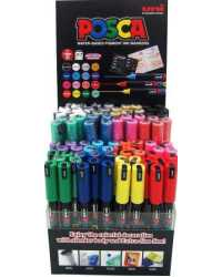 MARKER UNI POSCA PC1M POLY BULLET TIP 1.0MM ASSORTED BX12