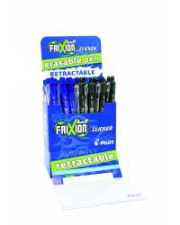 PEN PILOT FRIXION BALL RETRACTABLE ROCKET BLACK BLUE BX24