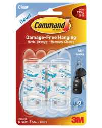 HOOKS COMMAND 6 SMALL 17006 CLEAR