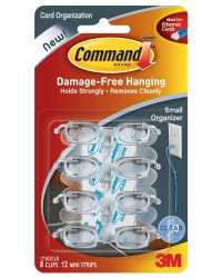 HOOKS COMMAND 8 SMALL 17302CLR