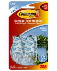 CLEAR HOOKS COMMAND MED ADHESIVE 17091CLR