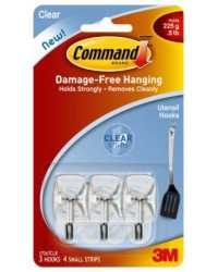 CLEAR HOOKS COMMAND ADHESIVE UTENSIL 17067CLR