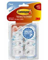 CLEAR HOOKS COMMAND ADHESIVE MINI 17006CLR-VP
