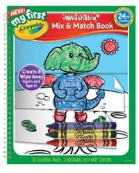 COLOURING SET CRAYOLA MY FIRST MIX AND MATCH COLOURING BOOK AND
