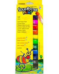 CRAYON STICK OSMER POSTER PAINT SOLID WASHABLE 12 COLOURS