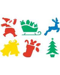 STENCIL EC CHRISTMAS 200X200M SET OF 6
