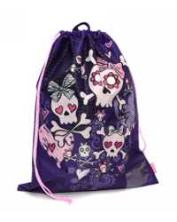 BAG DRAWSTRING SPENCIL BOW SKULLS