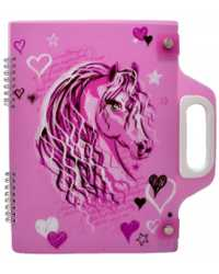 CARRY PAD A4 SPENCIL PINK HORSE