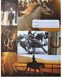 BOOK JACKET SPENCIL EXERCISE COUNTRY HORSE PK6