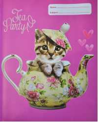 BOOK JACKET SPENCIL EXERCISE TEAPOT CAT PK6