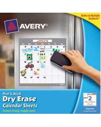 CALENDAR SHEETS AVERY PREPRINTED 3'S SQUARE 254X254MM