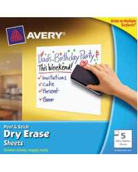 SHEETS AVERY PEEL & STICK WHITE 254X254MM 5 SHEETS